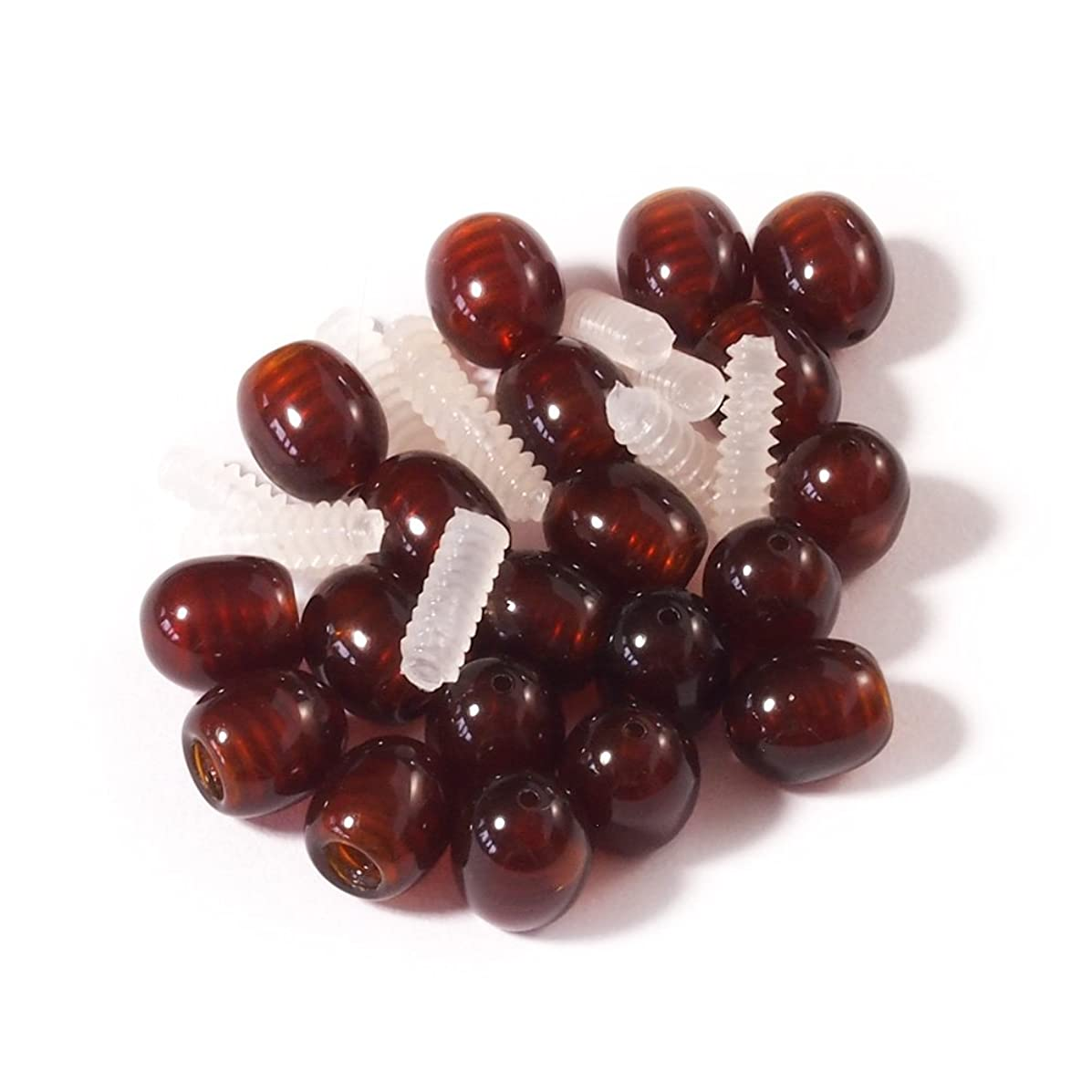 Screw Clasp 10 pcs Dark Cognac for Jewelry Making of Baltic Amber Necklaces and Bracelets