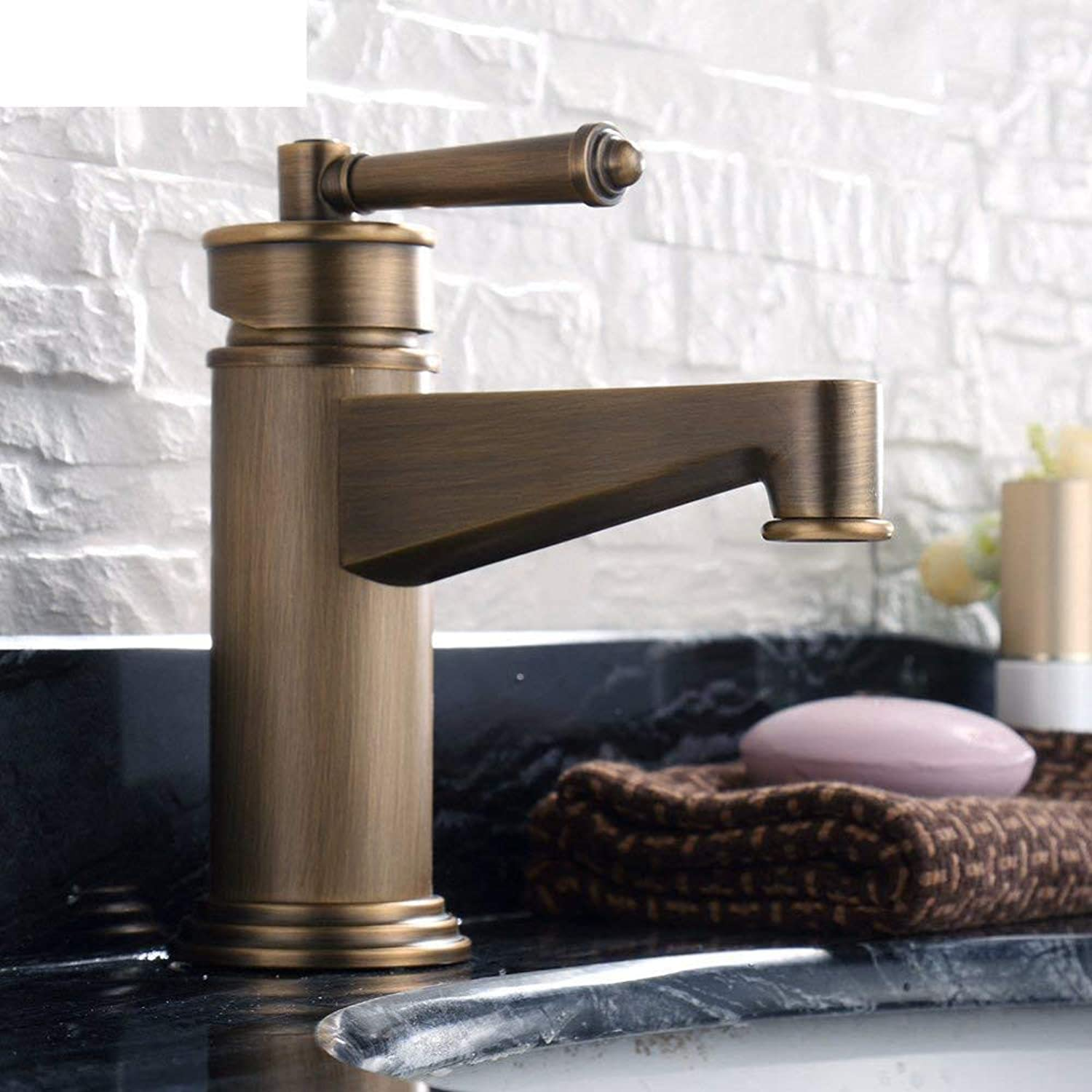 360° redating Faucet Retro Faucet European Antique Full Copper Basin Faucet Hot and Cold Water Counter Basin Faucet