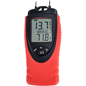 Carpet and More Moisture Meter Concrete Plaster Sonin 50210 14/% to 20/% Pin LED Wood