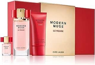 Estee Lauder Modern Muse Le Rouge 3 Piece Set: 1.7 Oz Eau de Parfum Spray + 2.5 oz Shimmering Body Lotion + .14 oz Eau de Parfum Purse Spray