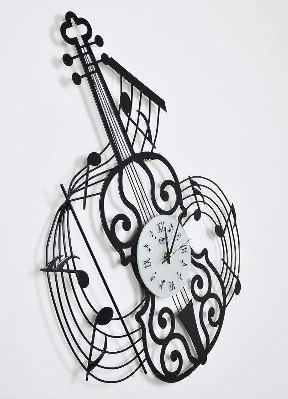 Wall Clock Fashion Music, Violin Watches, Iron Creative Silent Decorative Clock, European Style