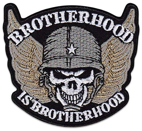 Brotherhood Is Brotherhood Aufnäher Aufbügler Patch Rocker Bügelbild Abzeichen Bundeswehr MC Motorrradfahrer Biker