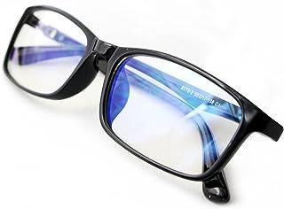 otch pc メガネ ブルーライトカット メガネ uv カット ファッション 眼鏡 伊達眼鏡 (ブラック)