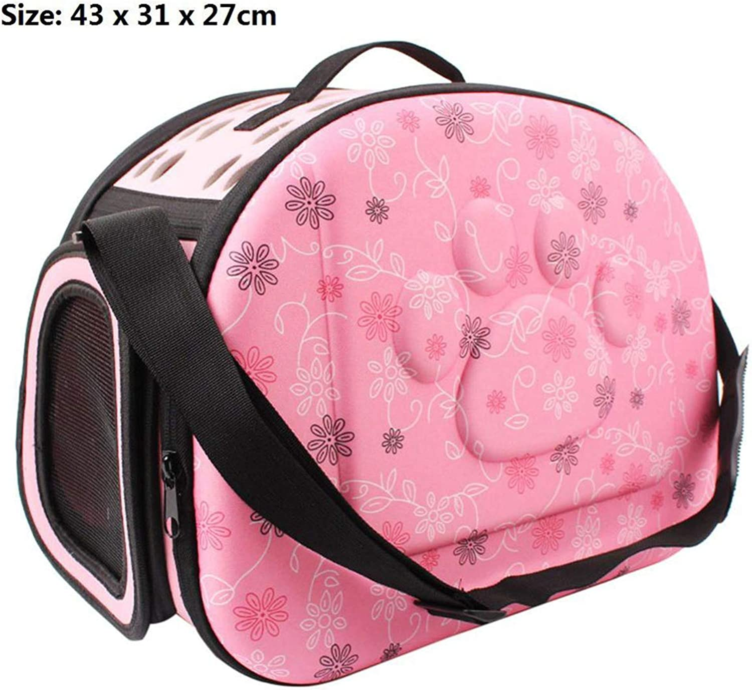 PETFDH Dog Carrier Foldable Outdoor Travel Carrier Bags for Small Dog Puppy Cats Carrying Carrier Animal Pet Supplies 02 M