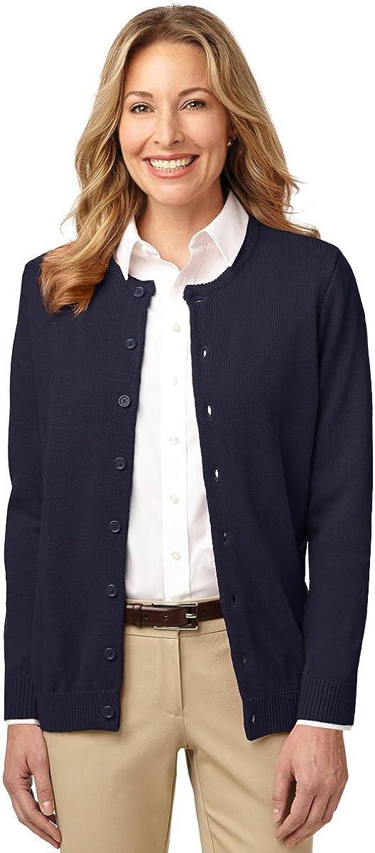 Port Authority Ladies Value Jewel-Neck Cardigan Sweater. LSW304