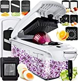 Fullstar Vegetable Chopper Dicer Mandoline Slicer - Food Chopper Vegetable Spiralizer Vegetable Slicer Peeler - Onion Chopper Salad Chopper Veggie Chopper Vegetable Cutter Food Slicer Egg Slicer