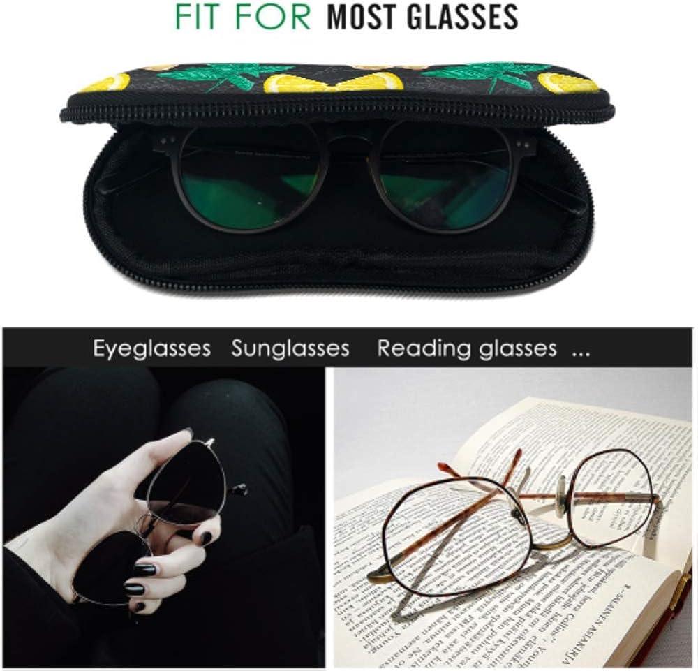 Creative Fashion Vegetable Ginger Adult Sunglass Case Custom Eyeglass Case Light Portable Neoprene Zipper Soft Case Eyeglasses Case For Women