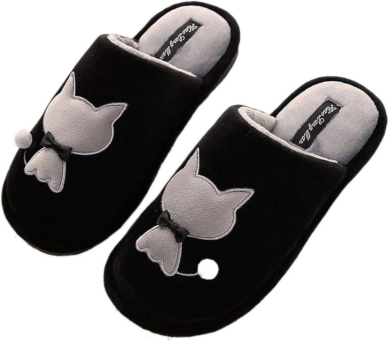 Nafanio Women's Home Slippers Men Indoor Flats Winter Warm Cotton Cartoon Cute Couple Female Bedroom shoes