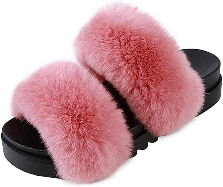 Lady Slippers, damernas hemtofflor inomhus Mode Behåll varma skor skor skor Man gjorde läder färgtofflor Medium for kvinnor röd  presentera alla senaste high street mode