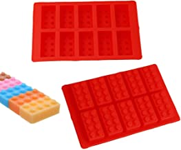 2Pack Building Brick Ice Tray or Candy Chocolate Mold for Lego Lovers! (Red)