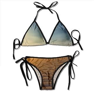 Kasiola Cozy Death Desert Womens Swimsuit 2 Pieces Bathing Suit Triangle Tie Side Bottom Bikini Set