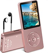 $43 » AGPtEK A02 8GB MP3 Player, Supports up to 32GB, Rose-Gold