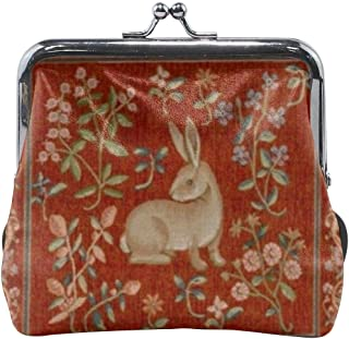 Vintage Tapestry Cushion Exquisite Buckle Leather Little Coin Purse Wallet