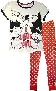 Pijama de Disney Minnie Mouse I Love You para mujer