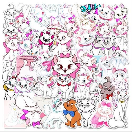 JINER Cute Mary Cat Graffiti monopatín Impermeable Maleta de Viaje móvil portátil Equipaje Pegatina niños Lindos Juguetes para niñas 57