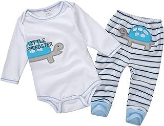 Vine Vine Neugeborenes Baby Strampler Spielanzug Baumwolle Langarm Unisex Baby Body  Hose Schildkröte 1
