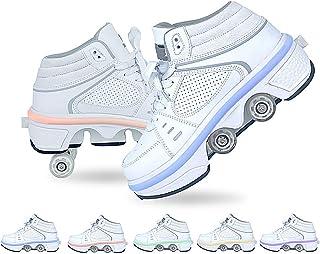 Doble Rodillo Zapatos De Skate Zapatos Invisible De Polea De Zapatos Zapatillas De Deporte Luz Zapatos con Luces LED de Co...