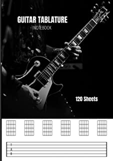 Guitar Tabular Notebook created by m3-bit: A4サイズ 120ページ ギタータブ譜ノート