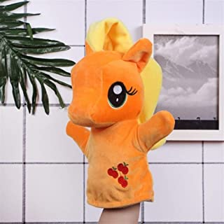 The New Cartoon Hand Puppet Plush Toy Doll Early Childhood Parent-Child Interaction Doll Creative Pony Doll Creative Baby Safety Blanket, Soft Soothing Towel, (Color : Orange, Size : 27cm)