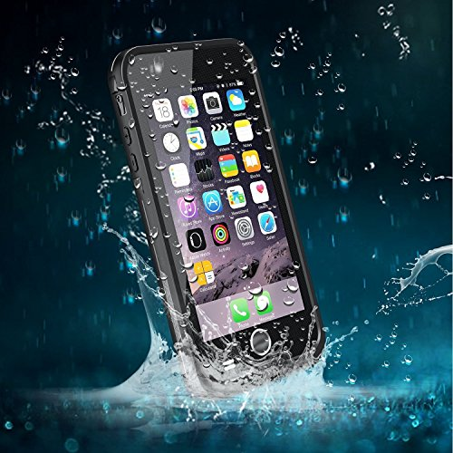 iPhone 6 Case, Bessmate (TM) Full Body Protective Waterproof Durable Full Sealed Shockproof, Sandproof , Snowproof. Cover Case Protector Bag with Clear Touched for iPhone 6 (Black)
