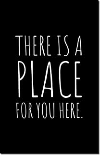 This Happy Home There is a Place for You Poster | 11x17 | White on Black