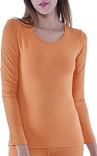 Women s Microfiber Fleece Thermal Underwear Long Johns TOP 192fa3b35