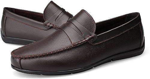 Chaussures Chaussures Homme Hommes Mocassins de Conduite Strap Décor Slip-on Loisirs Penny Mocassins Doux Caoutchouc Semelle Confortable  livraison gratuite