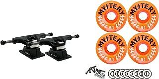 Core Black Trucks Mystery 51MM 99A Victory Orange Swirl Wheels Bearings Package