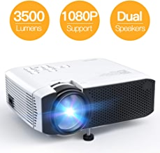 Projector, APEMAN Mini Portable 3500L Video Projector LED with Dual Speakers 45000 Hours Support HD 1080P HDMI/VGA/TF/AV/USB, Laptop/TV Box/Phone/PS4 for Home Theater Entertainment [No Noise Version]