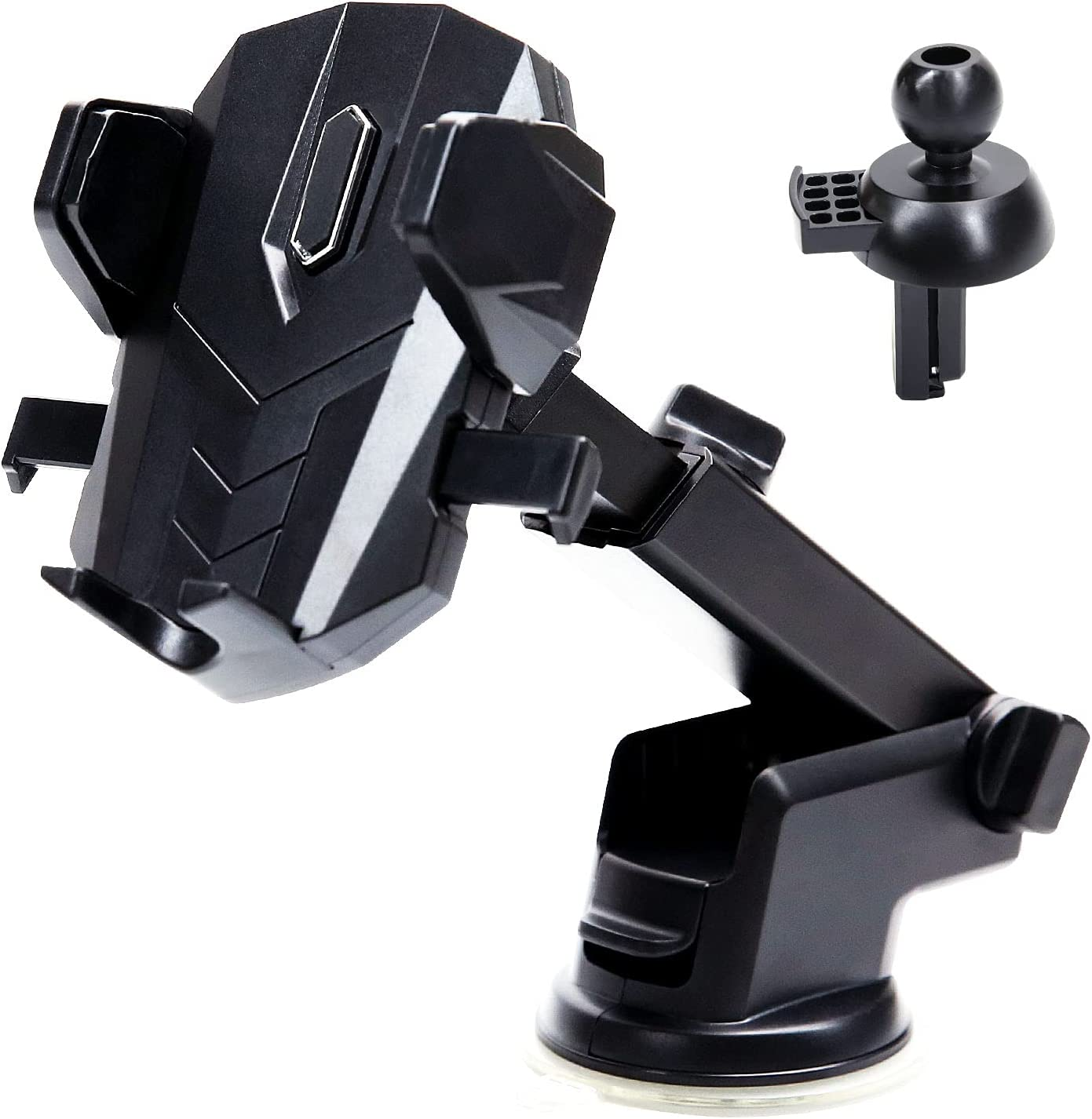 Car Phone Holder Mount, Phone Holder for Car Dashboard/Windscreen/Air Vent/Desk, Auto Lock Cell Phone Holder Car, Excellent Stable and 360° Rotation, for 4.7 to 7 inch Smartphone