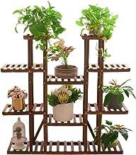UNHO Wood Plant Stand Ladder Shelf Large Plant Pot Holder Herb Planter Flower Rack for Indoor Outdoor Garden Patio Balcony Living Room Office
