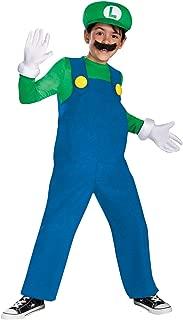 Mario and Luigi Kids Costume Luigi (green & blue) - Large