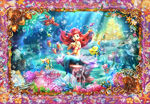 1000 rompecabezas pieza del puzzle Sirenita hermosa sirena (Ariel) Infantas Tikal Arte (51x73.5cm)