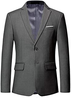 Cloudstyle Men's Solid Single-Breasted Blazer