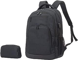 KEYTANG Business Bags Camping Backpack with USB Charging Port Bonus Small Bag