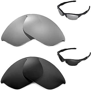 Walleva Polarized Black + Titanium Lenses Oakley Half Jacket 2.0