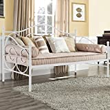 Daybed Frame Twin Metal Daybed Platform Bed Frame Heavy Duty Steel Slats Living Guest Room and Children Bed Sofa,Mattress not Include