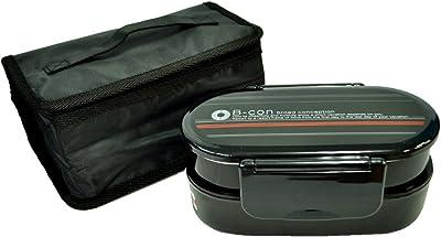スケーター 2段 弁当箱 小容量 670ml 保冷バッグ付 日本製 ブロードコンセプション KCQD3