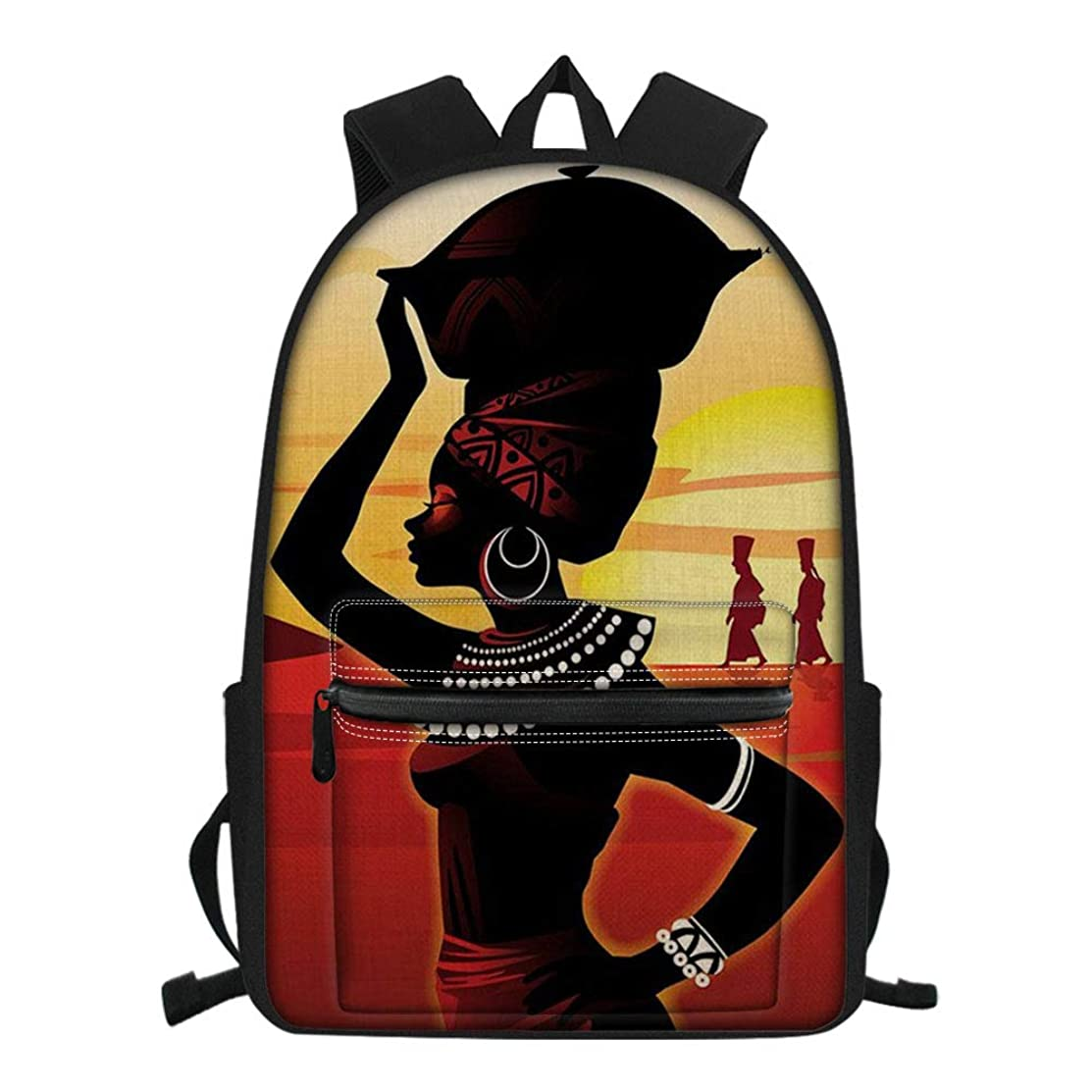 Salabomia Unisex Travel Daypack Egyptian Finger Dance Design Backpack for Teenagers Boys Girls School Bag Bookbag