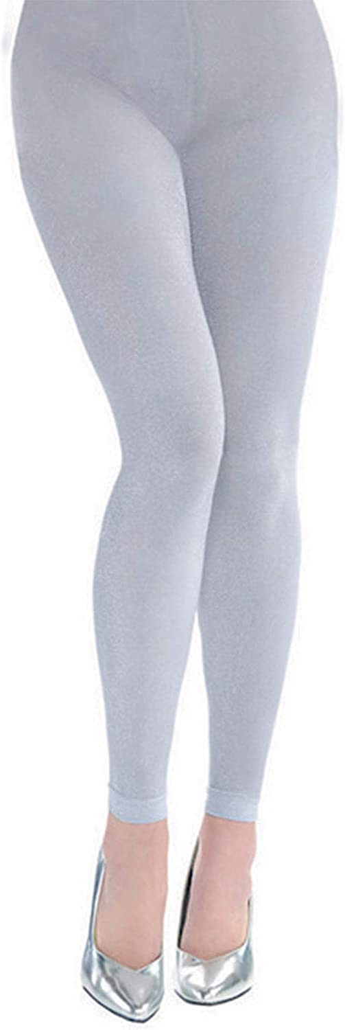 Price reduction Amscan 70% OFF Outlet Footless Tights - Adult Accessory Party Silver