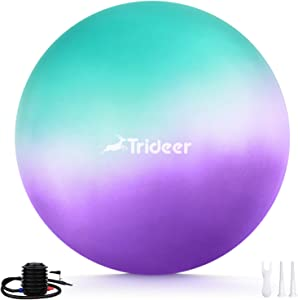Trideer Exercise Ball, Dreamy - Color Yoga Ball for Home Gym & DeskChair - Fitness, Yoga & Physical Therapy, with Quick Pump ( 45cm & 55cm & 65cm )
