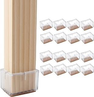 Cuadrado // 3-3.5cm Cusfull 20pcs Transparente de silicona pata de la silla de rat/ón Tabla pata de la silla Caps Pies cubiertas de los muebles de madera de protecci/ón de pisos