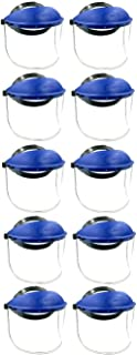 BRUFER 223101 Full Face Shield Mask for Grinding, Construction, General Manufacturing - BULK PACK OF 10 FACE SHIELDS
