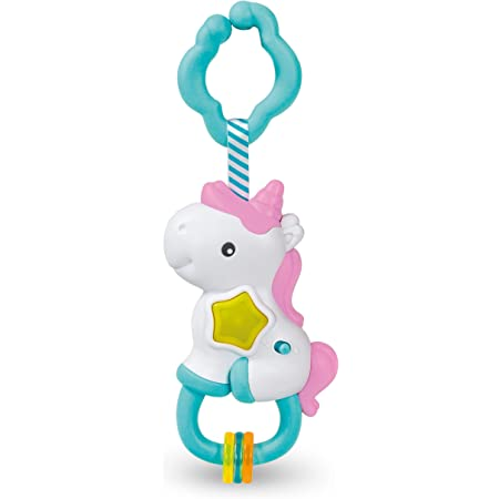 Baby Clementoni - 17333 - Sonaglino Unicorno Interattivo - Gioco Prima Infanzia Con Melodie Ed Effetti Sonori, Bambino 3 - 36 Mesi