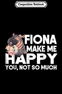 Composition Notebook: Team fiona - Fiona The Hippo Baby Journal/Notebook Blank Lined Ruled 6x9 100 Pages
