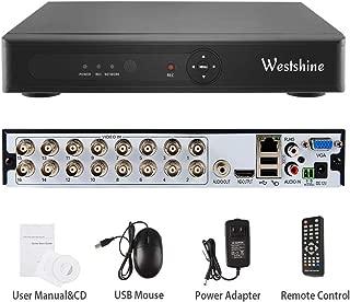 Westshine 1080N 16CH de Vigilancia Grabador de Video Digital CCTV H.264 DVR NVR Soporta AHD/TVI/CVI/Analog/IP Seguridad Cámara, Detección de Movimiento, Alarma Email, Sin Disco dur