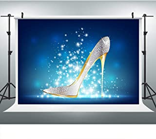 Stylish High Heels Shoes Backdrop for Party Photography, 9x6FT, Ladies Birthday Banner Mom Background, Photo Booth Studio Props LYLU847