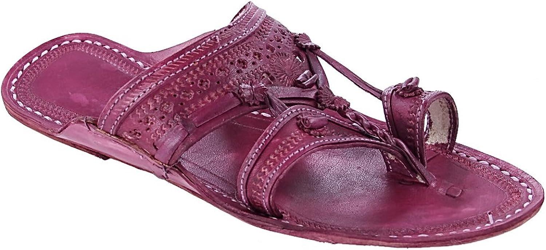 KOLHAPURI CHAPAL Urspspringaaaglig, gammal, vacker lila för män män män glidande sandal  bra rykte