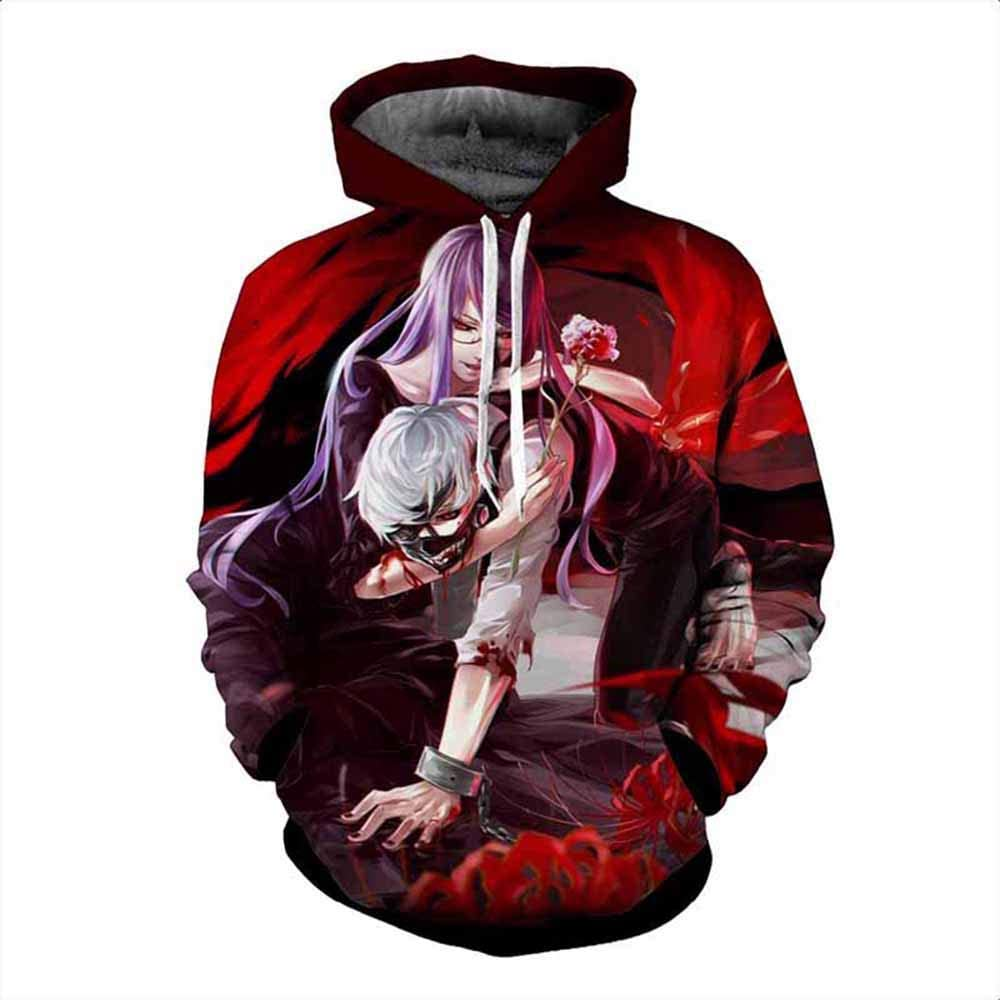 Lichee Boys Anime Max 74% OFF Tokyo Ghoul Long Cospla Sleeve Hoodie Pullover National products
