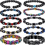 10 Pieces Magnetic Therapy Bracelet Energy Healing Bracelet Relief Hematite Bracelet Set for Men Women Sports Related...